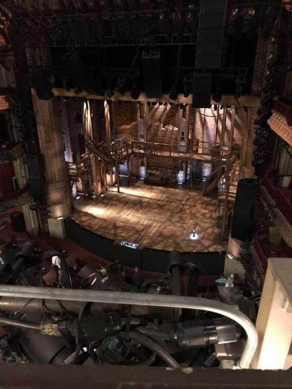 CIBC Theatre, vak: Balcony R, rij: A, stoel: 2
