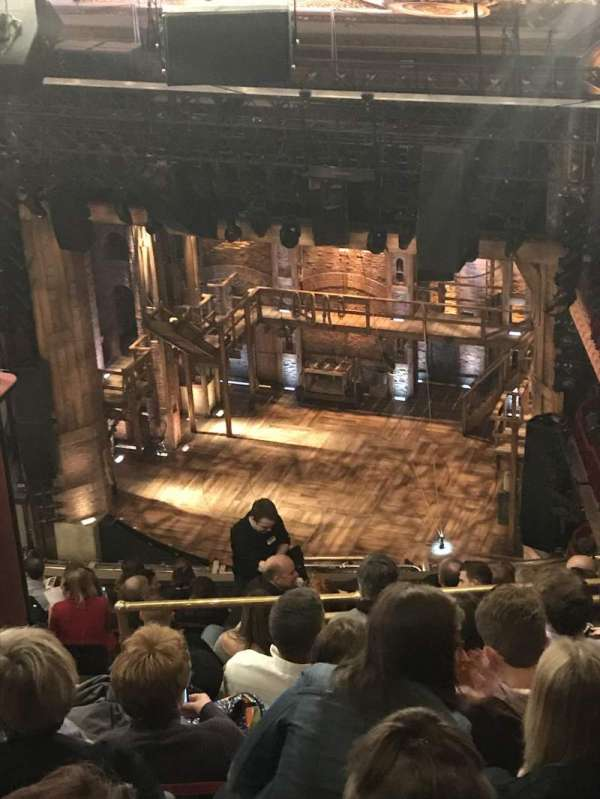 CIBC Theatre, vak: BALCONY R, rij: P, stoel: 4