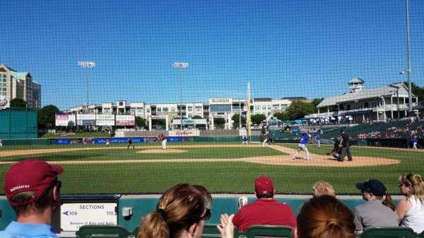 Dr Pepper Ballpark, vak: 110, rij: 4