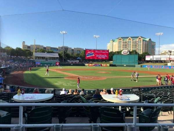 Dr Pepper Ballpark, vak: 114, rij: 15, stoel: 6