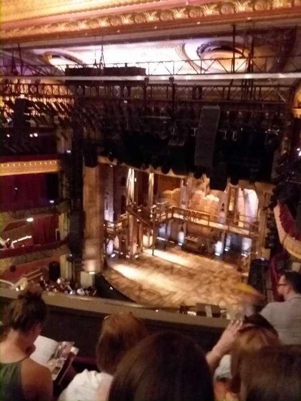 CIBC Theatre, vak: Balcony R, rij: D, stoel: 12
