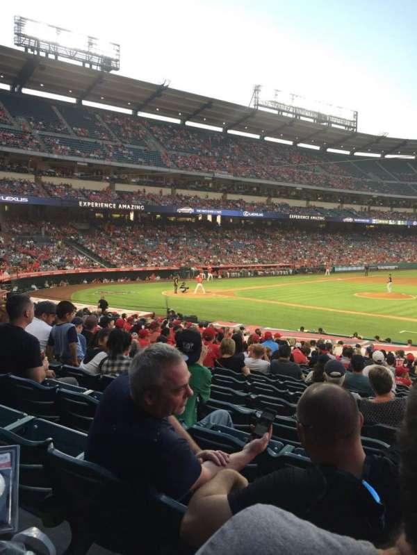 Angel Stadium, vak: F125, rij: Y, stoel: 12