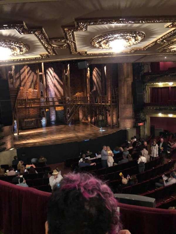 CIBC Theatre, vak: Dress Circle Left, rij: B, stoel: 3