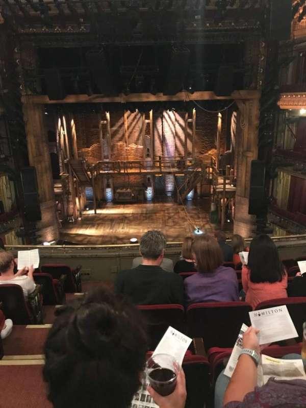 CIBC Theatre, vak: MezzRCG 14, rij: G, stoel: 302