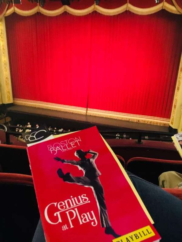 Boston Opera House, vak: Dress Circle Center Right, rij: CC, stoel: 14