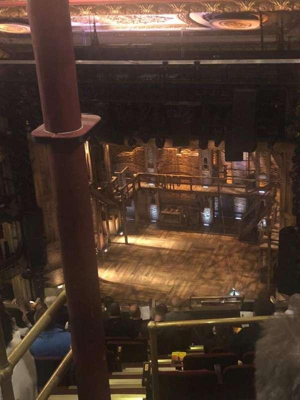 CIBC Theatre, vak: Balcony R, rij: L, stoel: 2