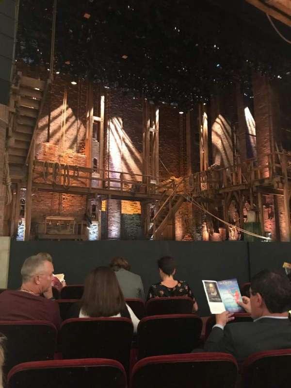 CIBC Theatre, vak: Orchestra L, rij: G, stoel: 9