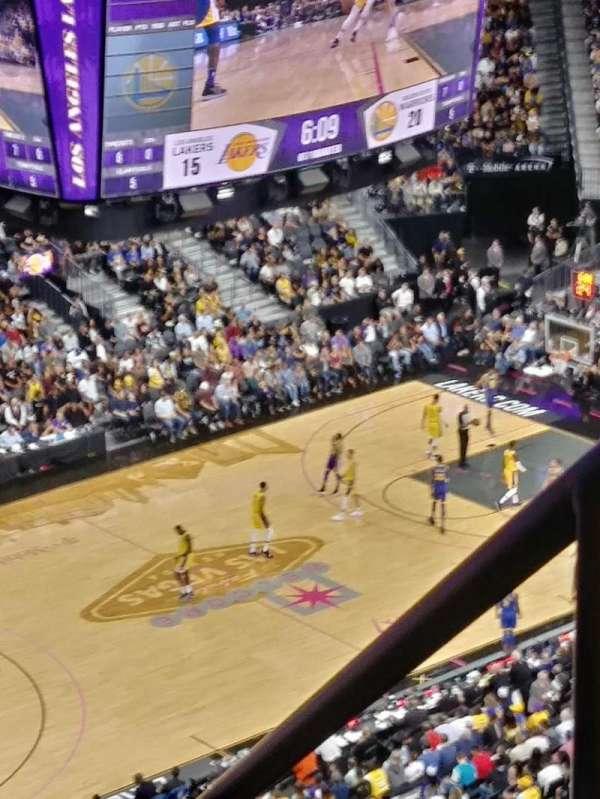 T-Mobile Arena, vak: 219, rij: A, stoel: 13