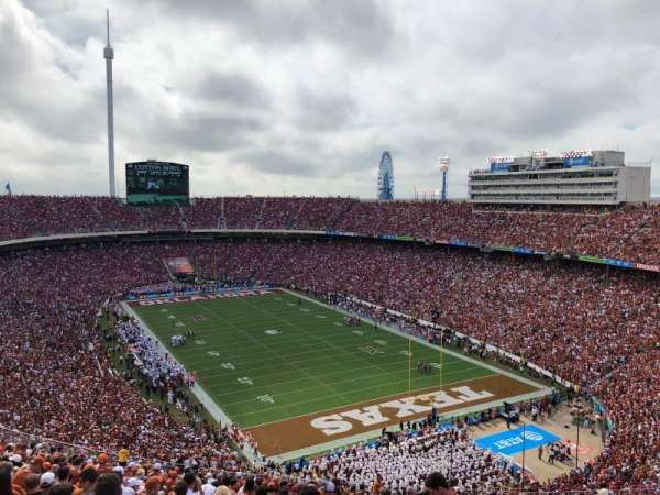 Cotton Bowl, vak: 120, rij: 32, stoel: 7