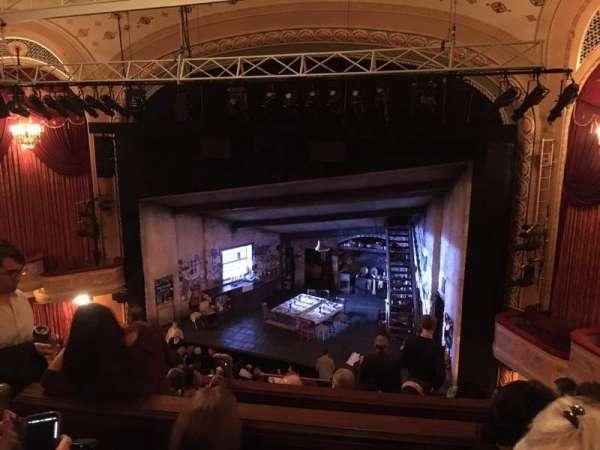 Bernard B. Jacobs Theatre, vak: Mezzanine, rij: G, stoel: 10