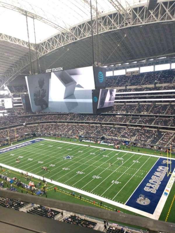 AT&T Stadium, vak: 407, rij: 1, stoel: 1