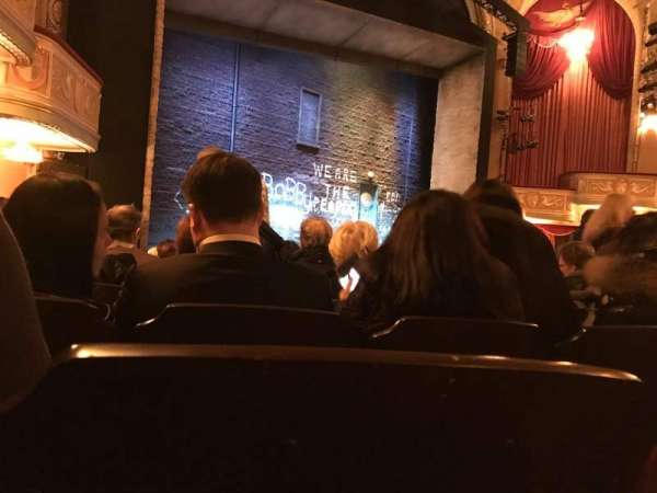 Bernard B. Jacobs Theatre, vak: Orchestra, rij: M, stoel: 21