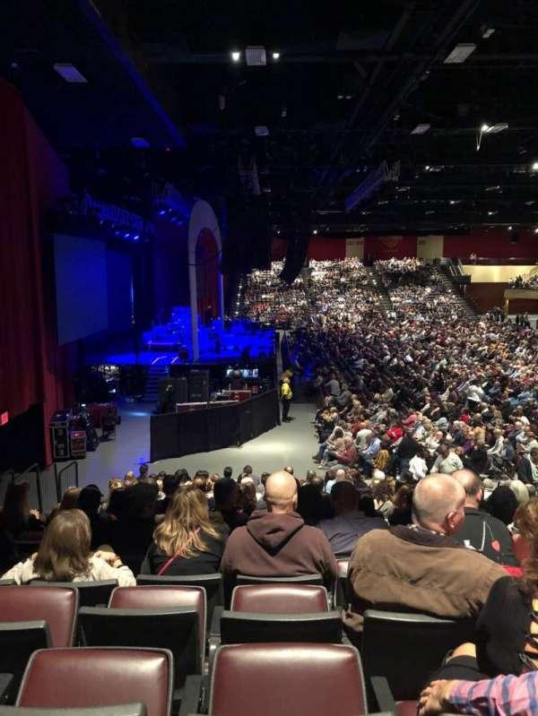 Etess Arena, vak: 214, rij: P, stoel: 8