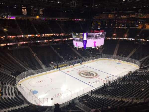 T-Mobile Arena, vak: 219, rij: K, stoel: 4
