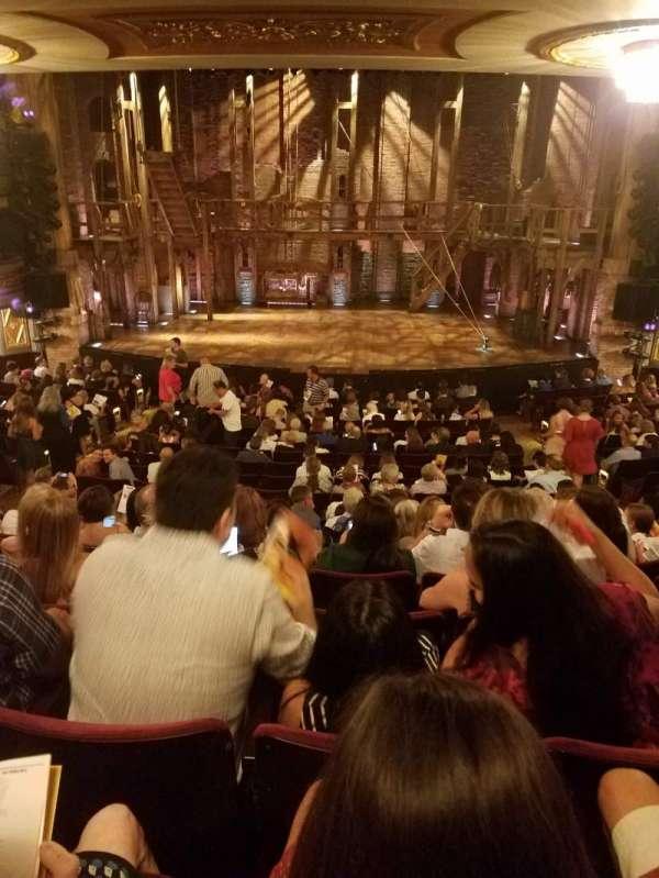 Richard Rodgers Theatre, vak: ORCHESTRA C, rij: S, stoel: 106