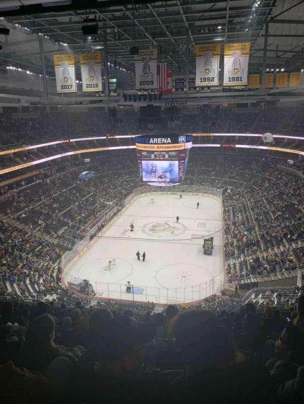 PPG Paints Arena, vak: 227, rij: p, stoel: 9