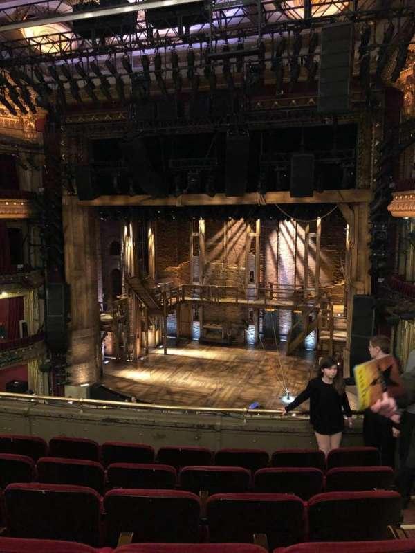 CIBC Theatre, vak: Mezzanine rc, rij: F, stoel: 322