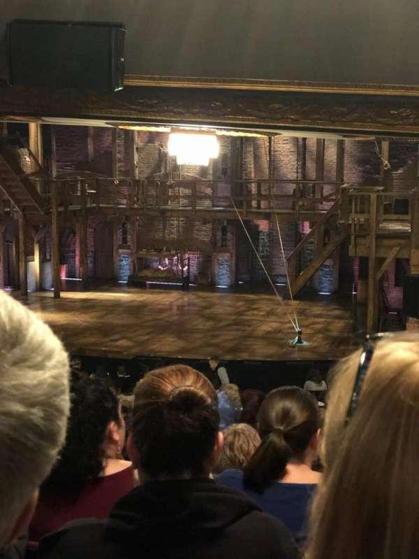 Richard Rodgers Theatre, vak: Orchestra Right, rij: U, stoel: 14