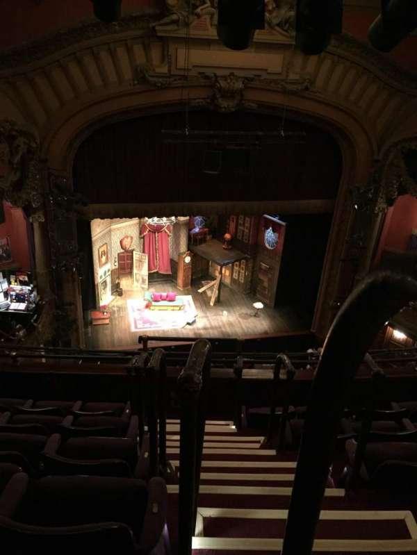 Lyceum Theatre (Broadway), vak: Balcony Left, rij: F, stoel: 1