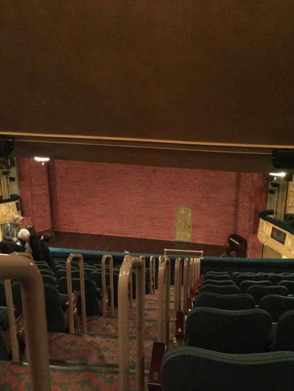 Shubert Theatre, vak: Mezzanine Right, rij: K, stoel: 2