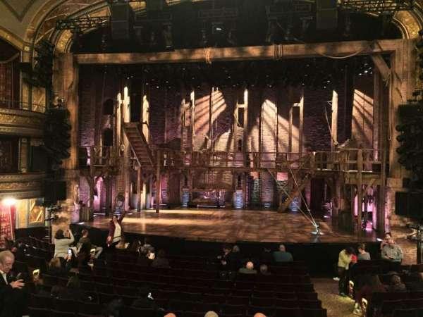 Richard Rodgers Theatre, vak: ORCH, rij: P, stoel: 101