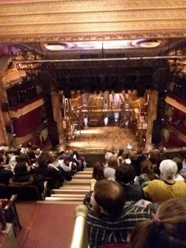 CIBC Theatre, vak: BALCRC, rij: K, stoel: 402