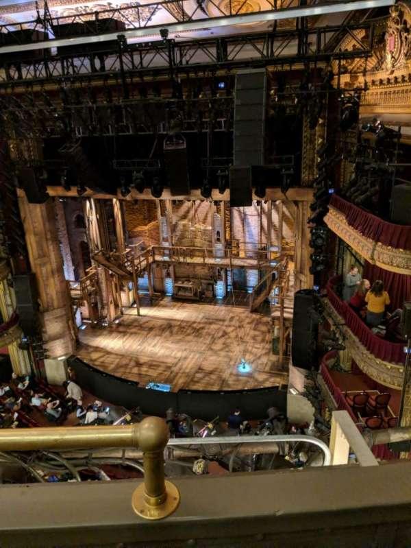 CIBC Theatre, vak: Balcony R, rij: B, stoel: 2