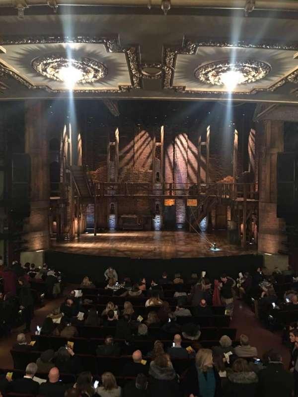 CIBC Theatre, vak: Dress circle center, rij: A, stoel: 207