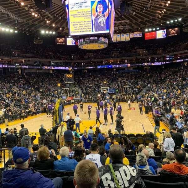 Oakland Arena, vak: 107, rij: 7, stoel: 10