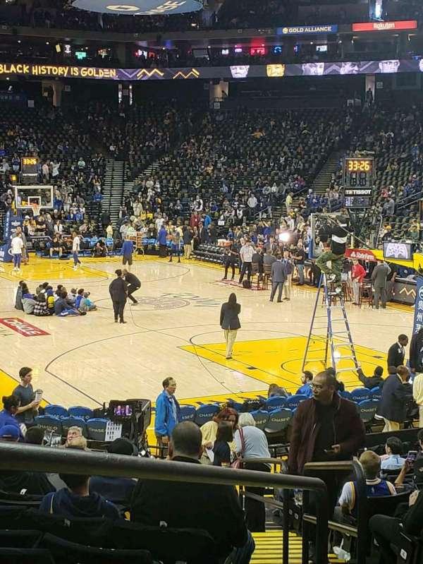 Oakland Arena, vak: 109, rij: 13, stoel: 5-7