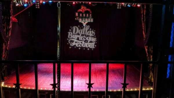 House Of Blues - Dallas, vak: bal c, rij: A, stoel: 208