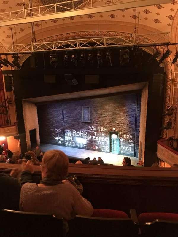Bernard B. Jacobs Theatre, vak: Rear Mezz, rij: G, stoel: 12