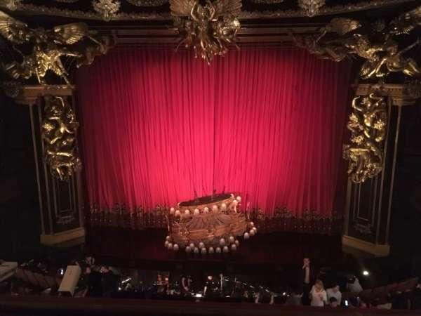 Majestic Theatre, vak: Front Mezzanine Center, rij: B, stoel: 110