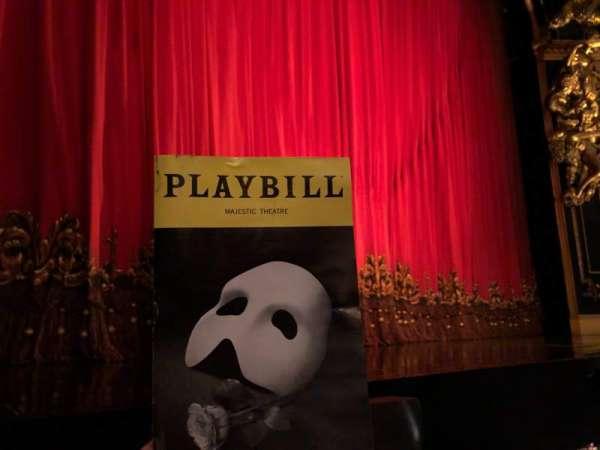 Majestic Theatre, vak: Phantom of the Opera, rij: AA, stoel: 5