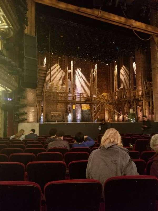 CIBC Theatre, vak: Orchestra L, rij: M, stoel: 11
