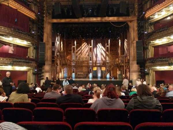 CIBC Theatre, vak: Orchestra C, rij: U, stoel: 109