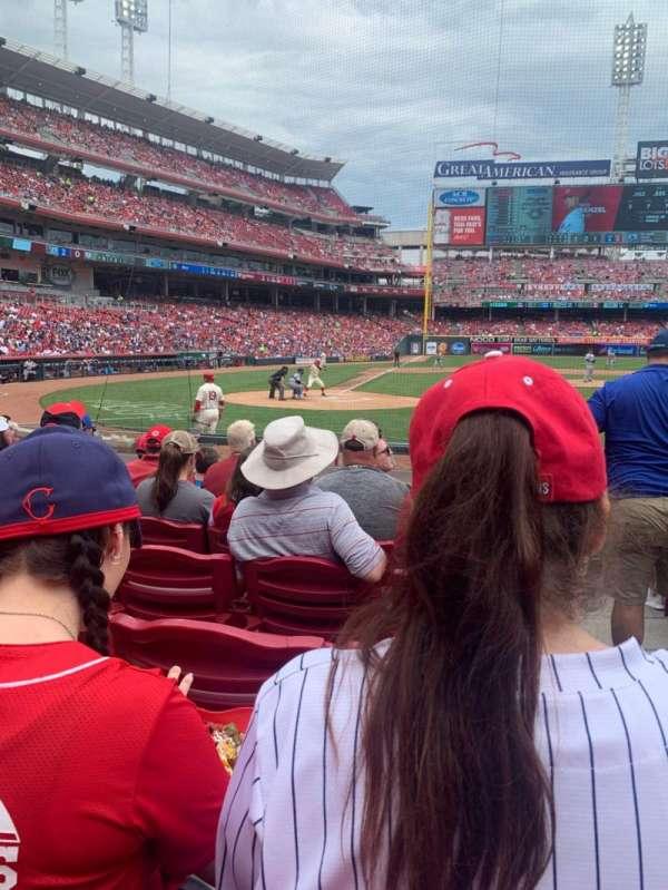 Great American Ball Park, vak: 127, rij: M, stoel: 1
