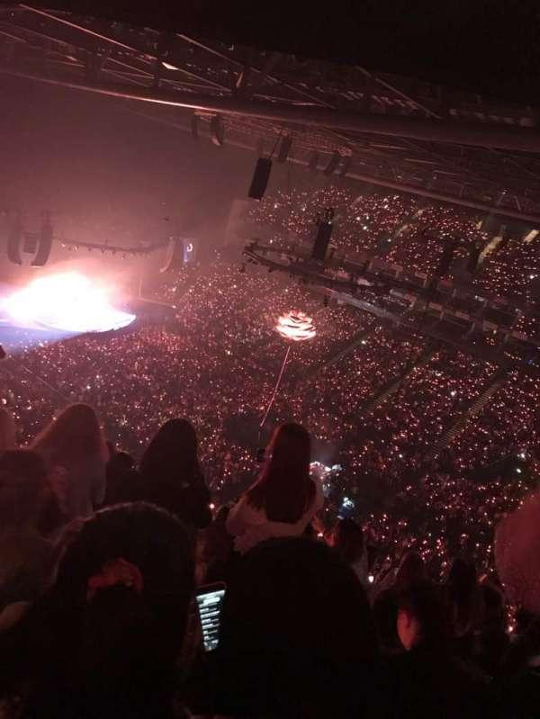 The O2 Arena, vak: 407, rij: P, stoel: 604