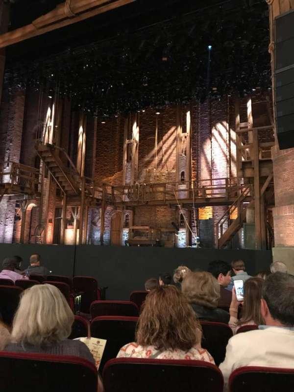 CIBC Theatre, vak: Orchestra R, rij: J, stoel: 8