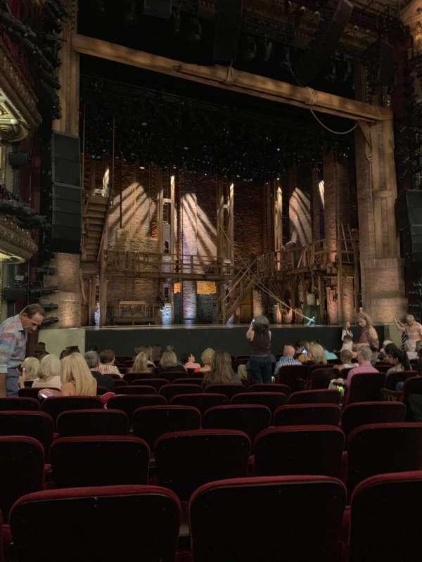 CIBC Theatre, vak: Orchestra L, rij: P, stoel: 11