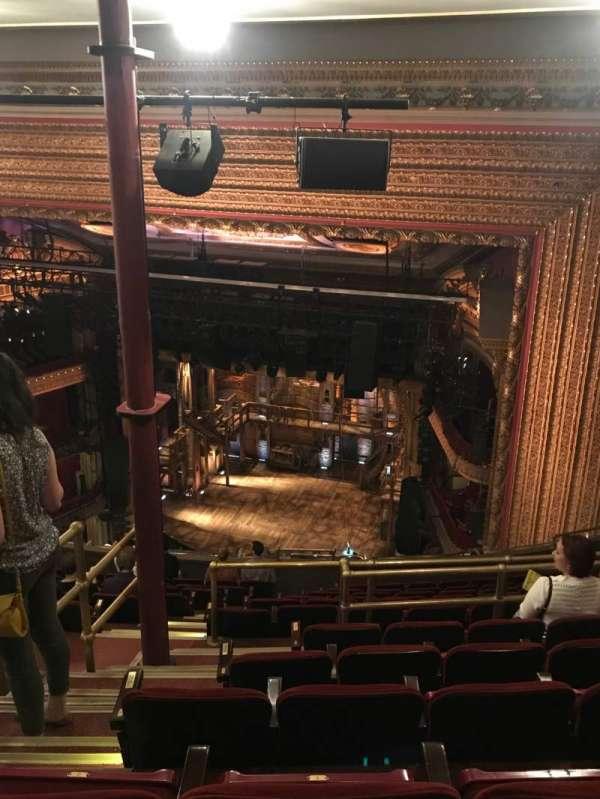 CIBC Theatre, vak: BALC-R, rij: N, stoel: 2