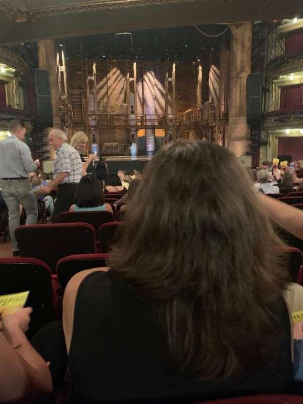 CIBC Theatre, vak: Orchestra C, rij: W, stoel: 105