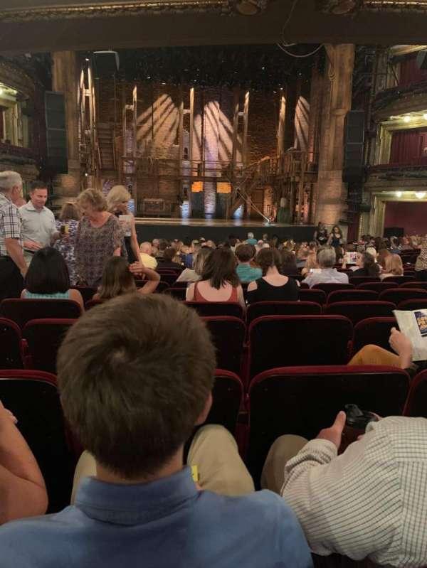 CIBC Theatre, vak: Orchestra C, rij: W, stoel: 106