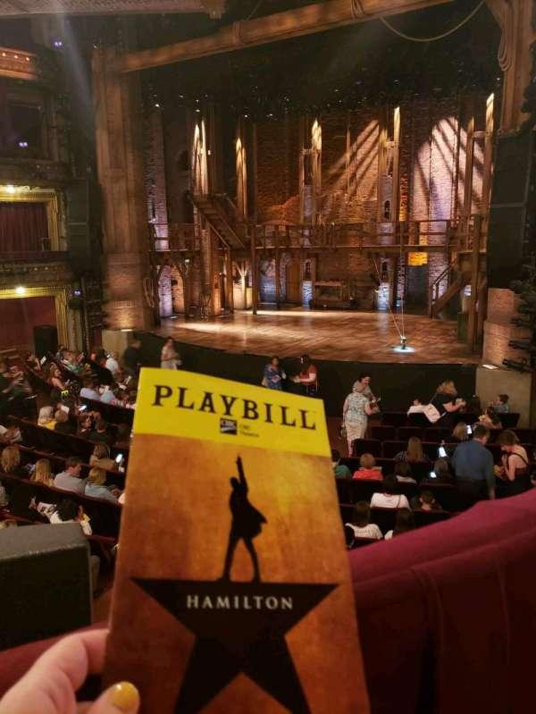 CIBC Theatre, vak: Dress Circle Right, rij: A, stoel: 4