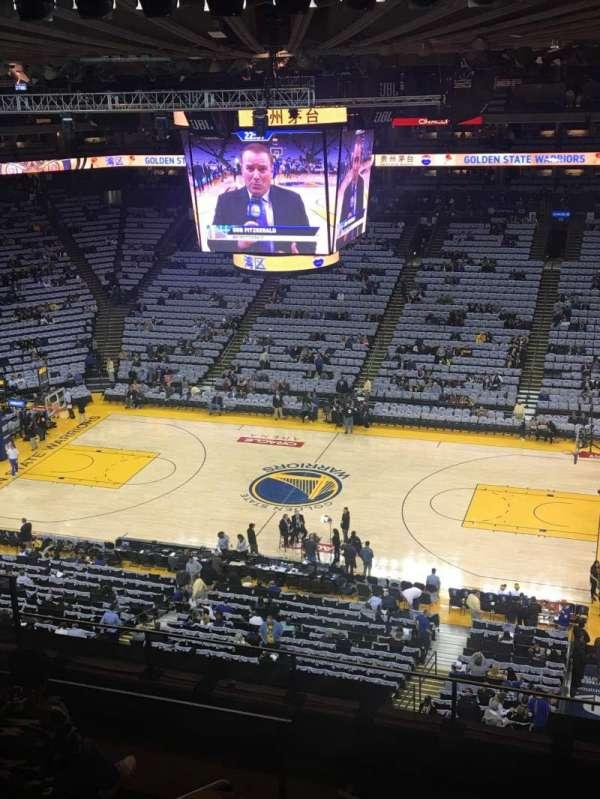 Oakland Arena, vak: 231, rij: 7, stoel: 8