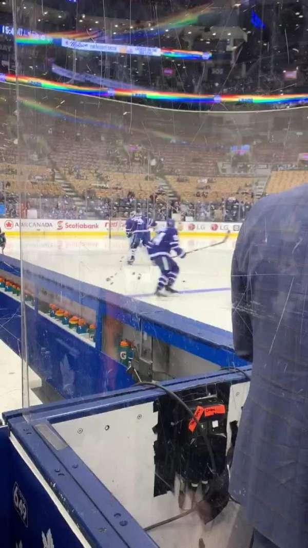Scotiabank Arena, vak: Bench, rij: 1, stoel: W