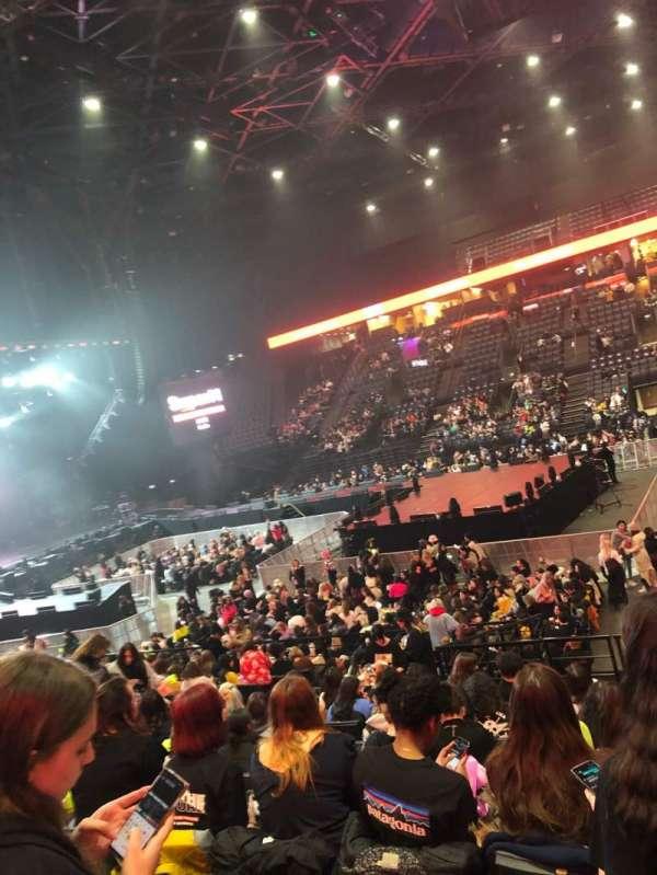 AccorHotels Arena, vak: P, rij: 14, stoel: 3