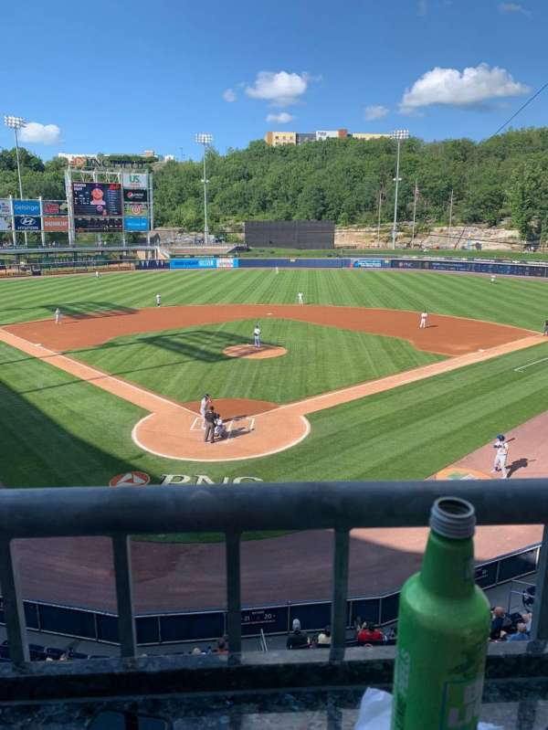 PNC Field, vak: 205, rij: 1, stoel: 8