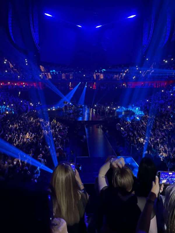 Mohegan Sun Arena, vak: 20, rij: P, stoel: 10