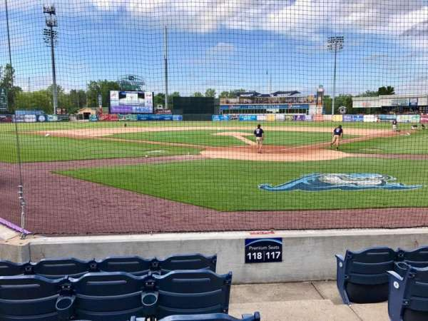 Fifth Third Ballpark, vak: 118, rij: 5, stoel: 1